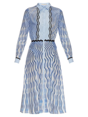 Mary Katrantzou Silcott Snuffbox-print silk and cotton-blend dress