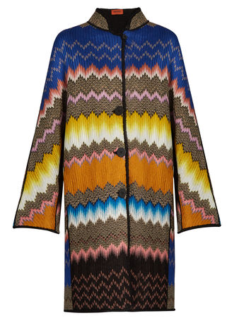 Missoni Button-down zigzag-knit coat
