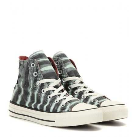 Missoni Chuck Taylor All Star Printed High-top Sneakers beige