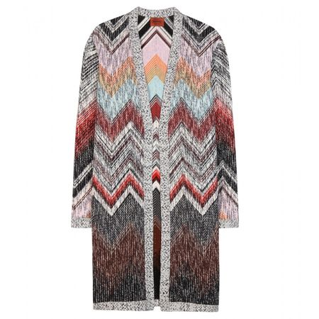 Missoni Knitted Wool Cardigan gray