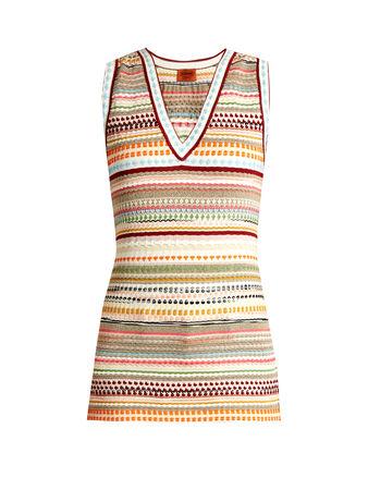 Missoni Multi-stripe sleeveless top