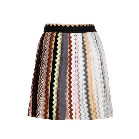 Missoni Printed Wool-blend Skirt white