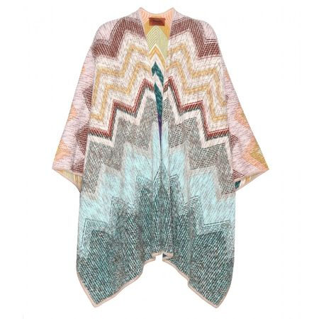 Missoni Reversible Wool Cape gray
