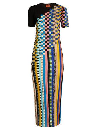 Missoni Ribbed-knit wool-blend dress
