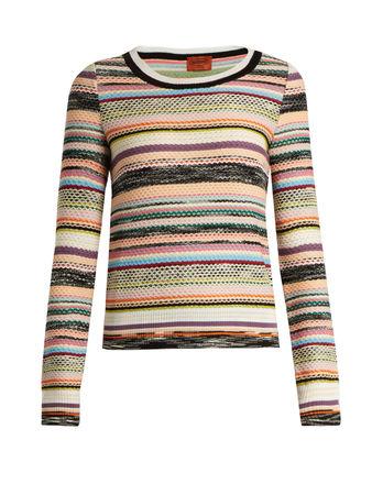 Missoni Striped textured-knit sweater