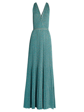Missoni Twist-back halterneck knitted maxi dress