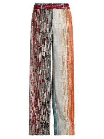 Missoni Zigzag-knit wide-leg trousers