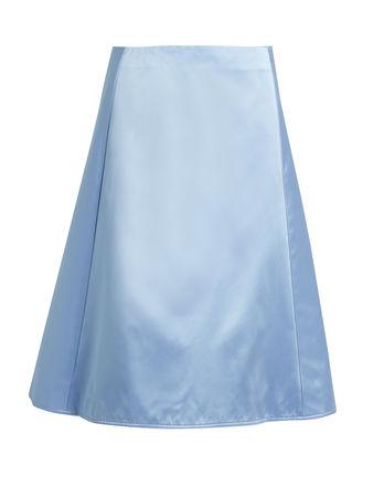 Nina Ricci A-line silk duchess-satin skirt