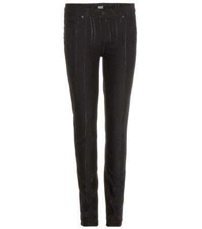 Paige Verdugo Ultra Skinny Striped Jeans black