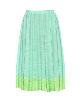 Pleats Please Issey Miyake Citrus Fruits pleated skirt green