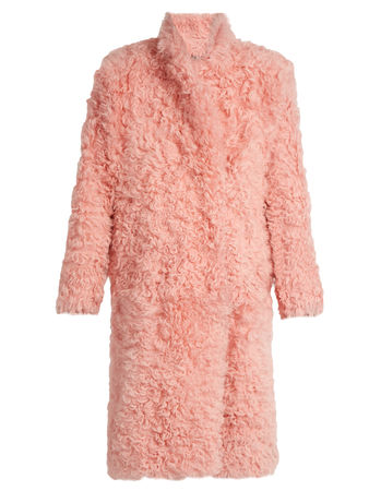 Preen Candy curly-shearling coat