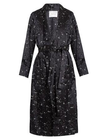 Racil Andromeda constellation-print satin coat