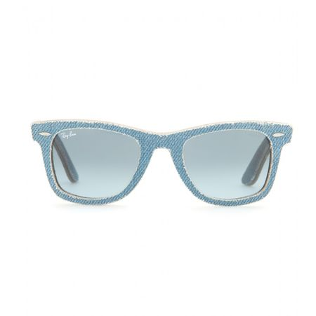 Ray-Ban Wayfarer Denim-coated Sunglasses gray