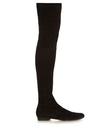 Robert Clergerie Fetel over-the-knee suede boots black