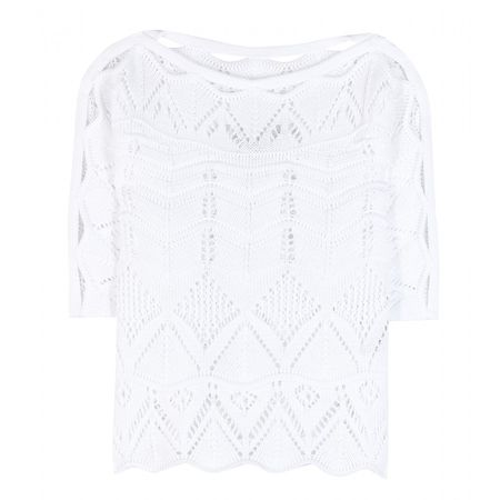 Roberto Cavalli Crochet Knit Top white