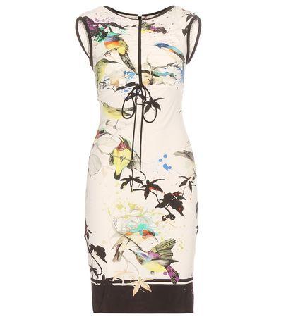 Roberto Cavalli Printed Dress white