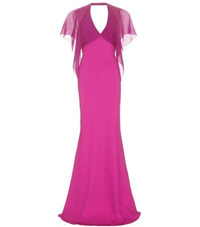 Roberto Cavalli Silk-chiffon Gown pink