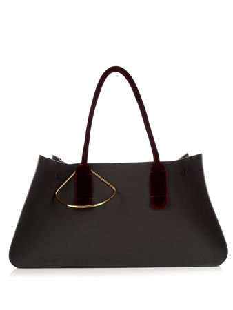 Roksanda Ilincic Contrast-handle leather tote
