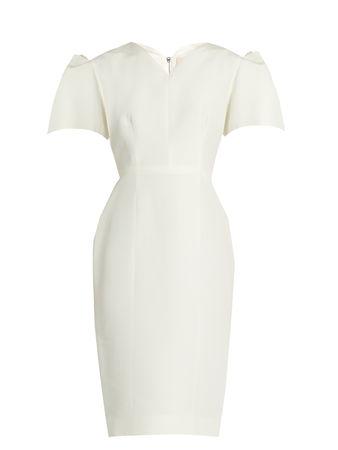 Roksanda Ilincic Lynton bell-sleeved dupion dress