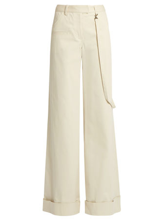 Rosie Assoulin B Boy cotton-blend wide-leg flared trousers