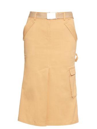 Rosie Assoulin Cotton-twill midi skirt brown