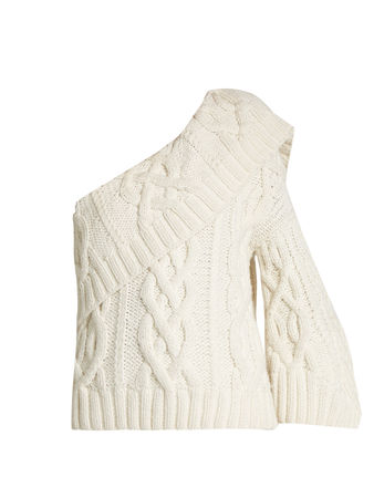 Rosie Assoulin Crater one-shoulder wool-blend sweater