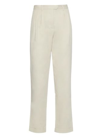 Rosie Assoulin Cropped cotton-twill trousers beige