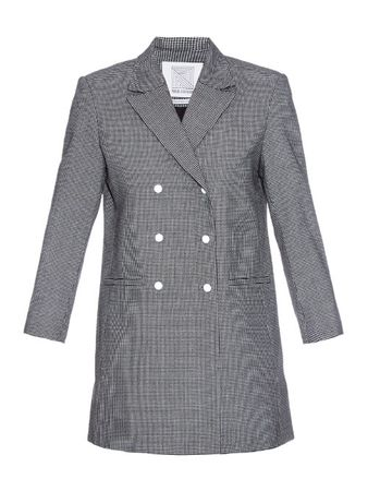 Rosie Assoulin Hound's-tooth wool-blend blazer gray