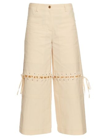 Rosie Assoulin In It Together cotton-blend trousers beige