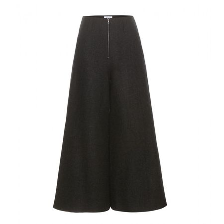 Rosie Assoulin Wide-leg Wool Trousers black
