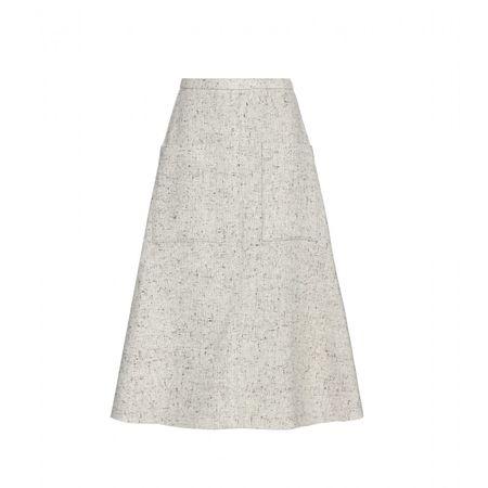 Rosie Assoulin Wool-blend Skirt gray