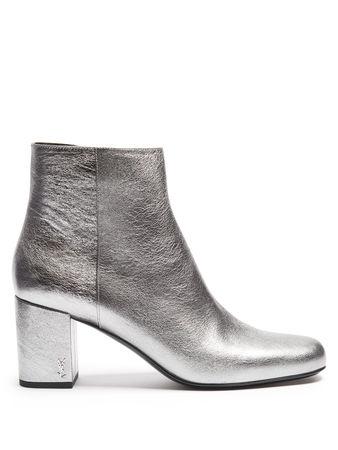 Saint Laurent Paris Babies leather ankle boots