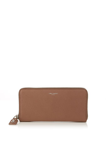 Saint Laurent Paris Grained-leather continental wallet