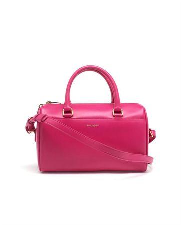 Saint Laurent Paris Mini Leather Duffel Bag red