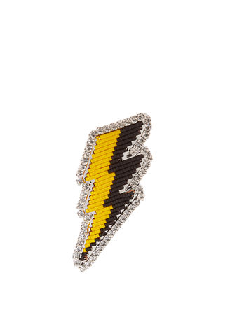 Shourouk Emojibling lightning brooch