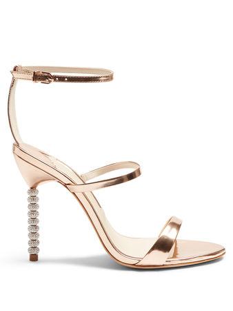 Sophia Webster Rosalind crystal-heel leather sandals