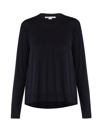 Stella McCartney Asymmetric-hemline wool sweater
