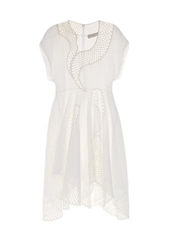 Stella McCartney Clotilde short-sleeved embroidered dress white
