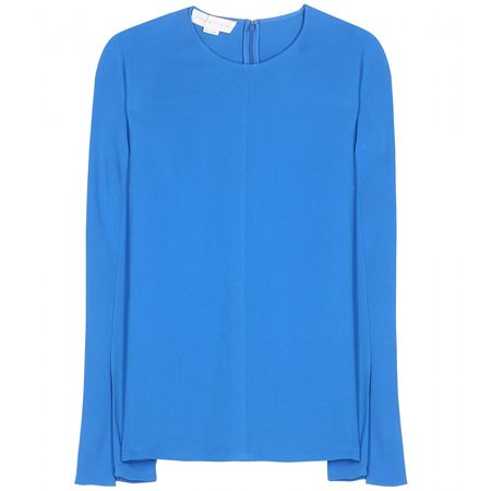 Stella McCartney Crepe Blouse blue