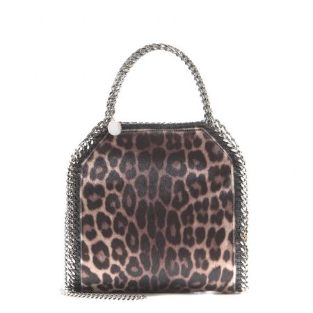 Stella McCartney Falabella Mini Printed Shoulder Bag gray