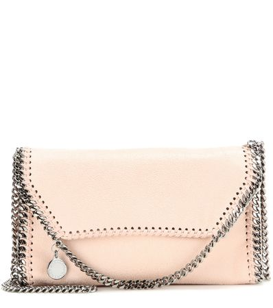 Stella McCartney Falabella Shaggy Deer Shoulder Bag white