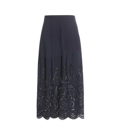 Stella McCartney Penelope Cotton Skirt gray
