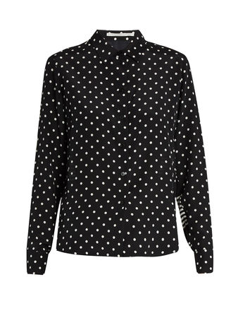 Stella McCartney Wilson contrasting-print silk shirt