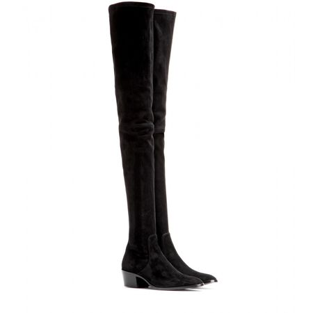 Tamara Mellon Gangster Suede Over-the-knee Boots black