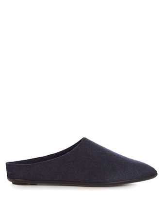 The Row Bea cashmere slipper shoes