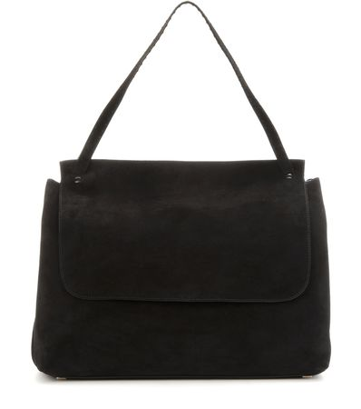 The Row Suede Tote black
