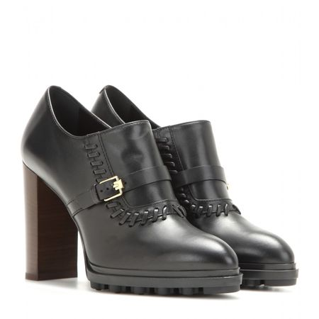 Tod's Leather Ankle Boots gray