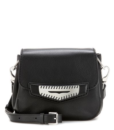 Tod's Mask Mini Leather Shoulder Bag black