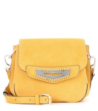 Tod's Mask Mini Suede Shoulder Bag yellow