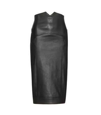 Tom Ford Leather Skirt gray